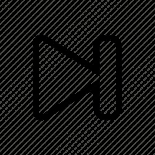 fast, forward, next, skip icon