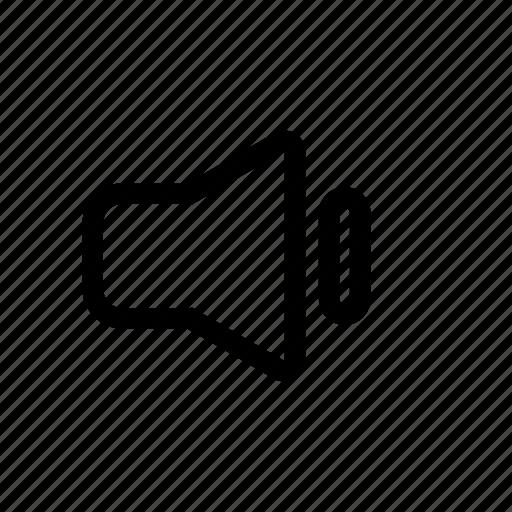 min, off, quiet, silent, volume icon