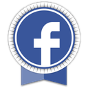 facebook, ribbon, social icon