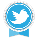ribbon, social, twitter icon