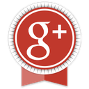 google, ribbon, social icon