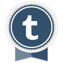 ribbon, social, tumblr icon