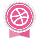 dribbble, ribbon, social icon