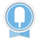 fancy, ribbon, social icon