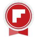 flipboard, ribbon, social icon