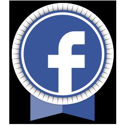 facebook, ribbon, social icon