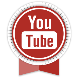ribbon, social, youtube icon