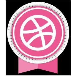 dribbble, ribbon, social icon