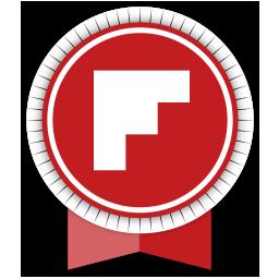 flipboard, ribbon, social icon