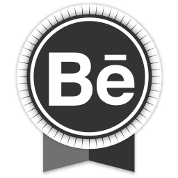 behance, ribbon, social icon
