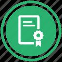 certificate, graduate icon