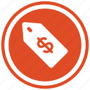 currency, dollar, doller, money, price, tag icon