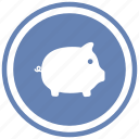 pig, piggy icon