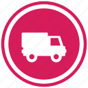 delhivery, transport, transportation, van, vehicle icon