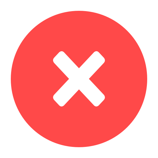 cancel, close, delete, dismiss, exit, recycle, remove icon