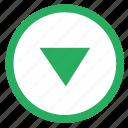 arrow, bottom, down, navigation icon