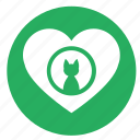cat, heart, kitty, like, love icon