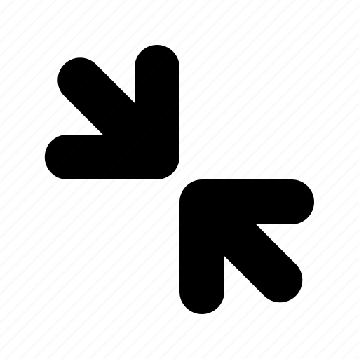 collapse, exit, exit fullscreen icon