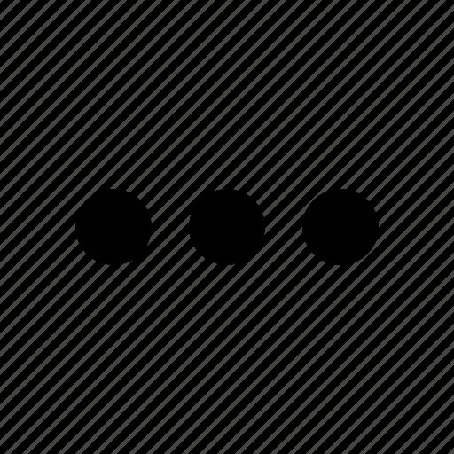 dots, floating menu, horizontal icon