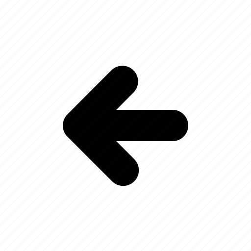 arrow, backward, left, left arrow, reverse icon