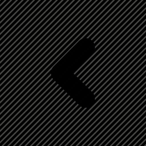 arrow, back, backward, head, last, left, rounded icon