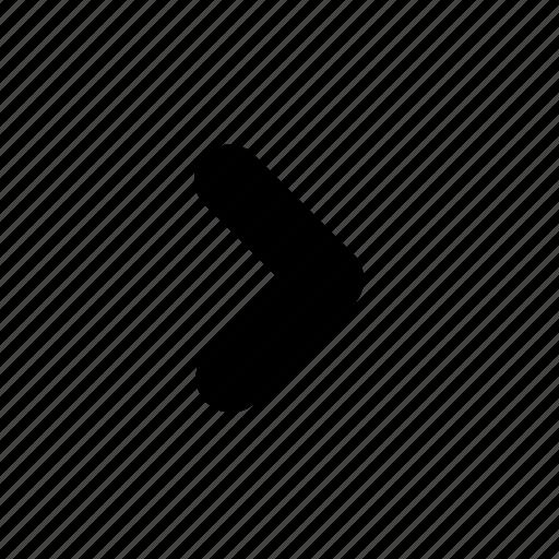 arrow, forward, head, next, right, rounded icon