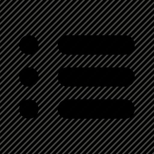 list, list view icon