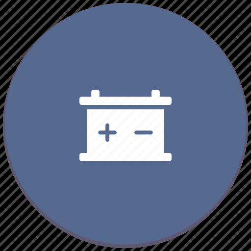 accumulator, auto, battery, car, energy, part, repair icon