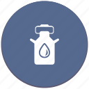 canister, dishes, milk, oil, water icon