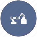 car, detail, gear, manipulator, welding icon