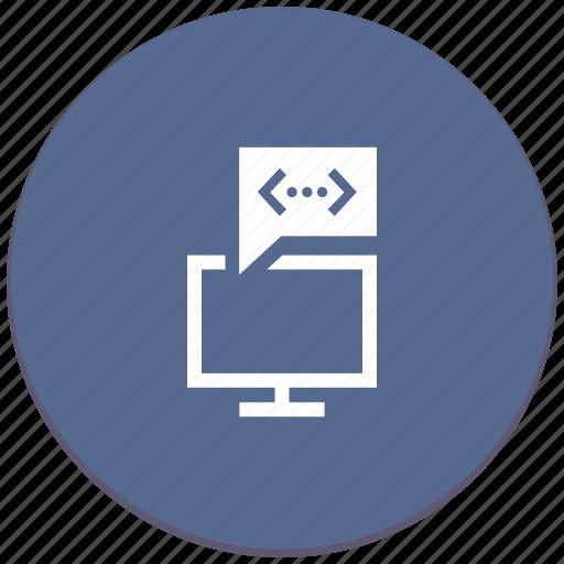 api, code, comment, notice, program, screen, source icon