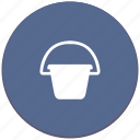 garden, pail, reservoir, water icon