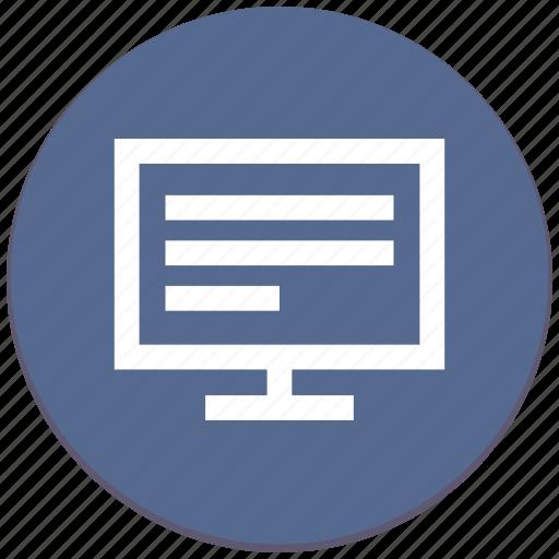 code, listing, monitor, program, script, source icon