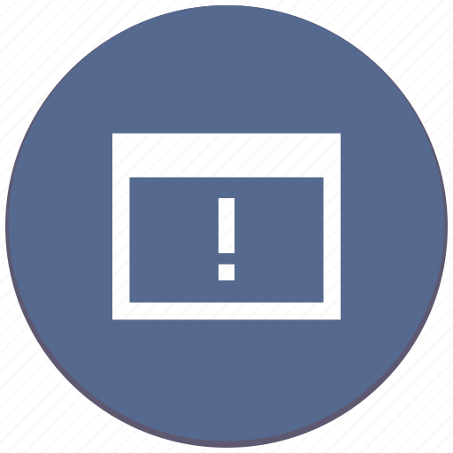 api, attention, program, warning, window icon