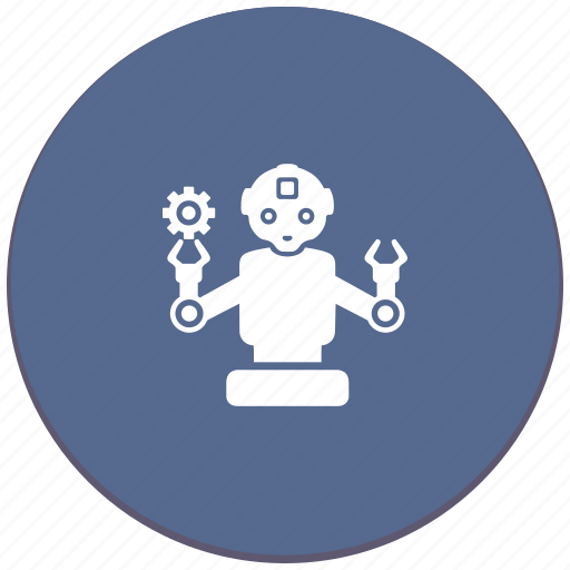 detail, gear, manipulator, robot icon