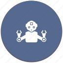android, industrial, manipulator, mashine, robot icon