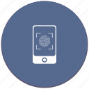 biometry, dactyl, dactylography, detect, finger, scanner icon