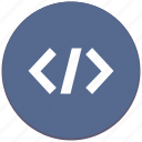 code, html, php, program, source icon