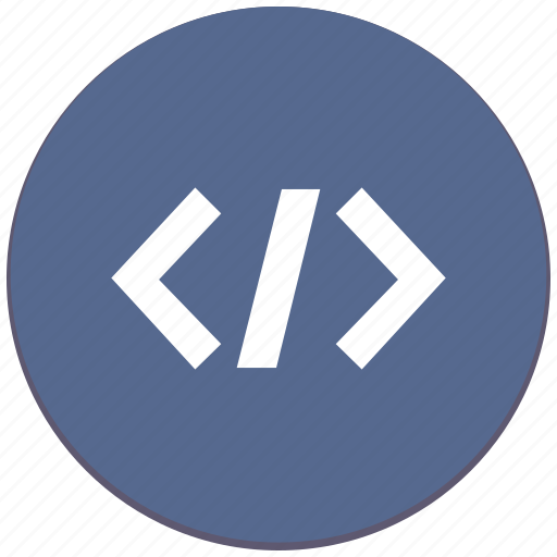 code, html, php, program, source icon