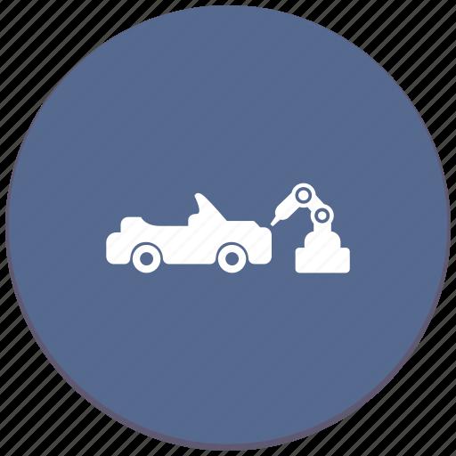 auto, car, manipulator, robot, toy, welding icon