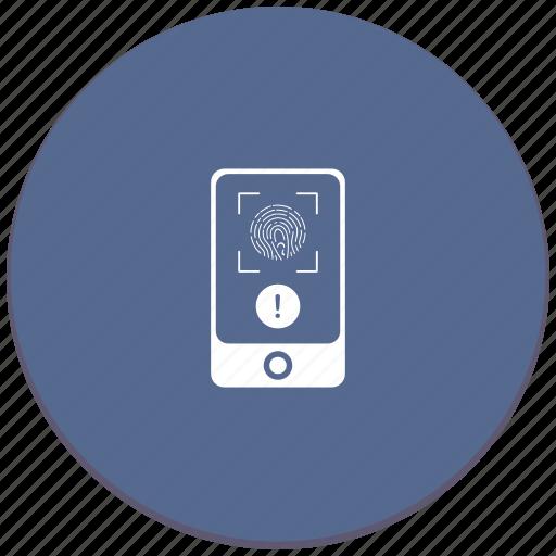 dactyl, dactylography, error, scanner, warning icon