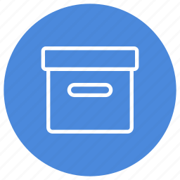 archive, box, package, storage, transport icon