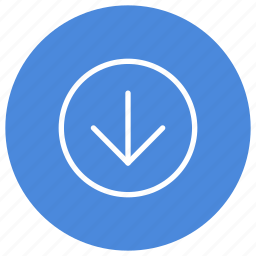 arrow, direction, down, gps, location, navigation, pointer icon