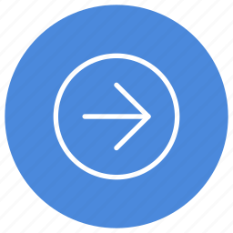 arrow, direction, location, navigation, pointer, right icon