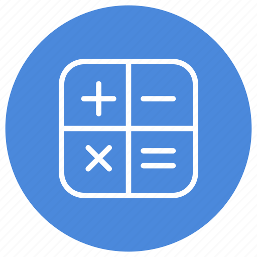 application, calculating, calculator, device, gadget, operations, technology icon