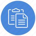 clipboard, document, file, page, paste, text icon