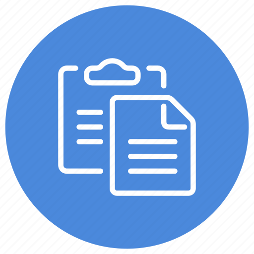 clipboard, data, document, file, page, paste, text icon