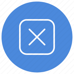cancel, close, cross, delete, exit, rectangle, rounded icon