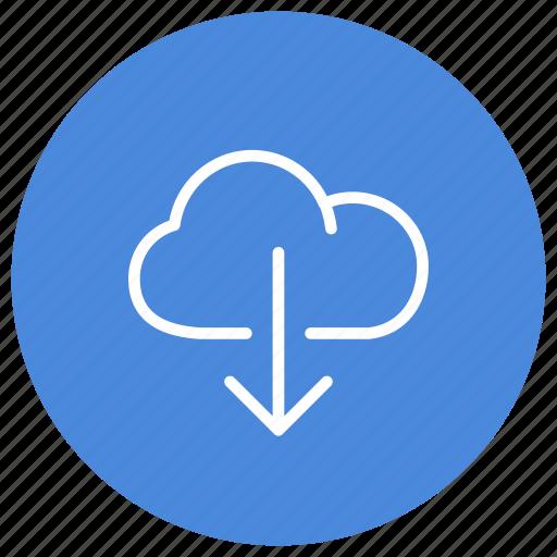 cloud, data, download, files, information, storage icon