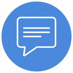 chat, comment, communication, conversation, discuss, interaction, message icon